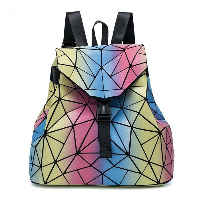 Rucsac dama Lady geometric, fosforescent Multicolor [0]