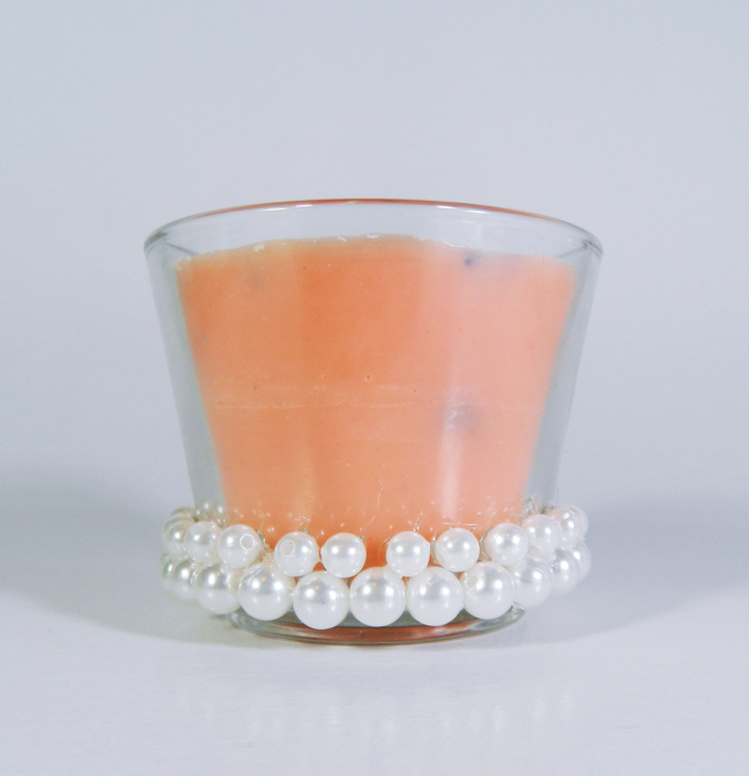 Lumanare decorativa parfumata in borcan, 6cm, portocaliu 0