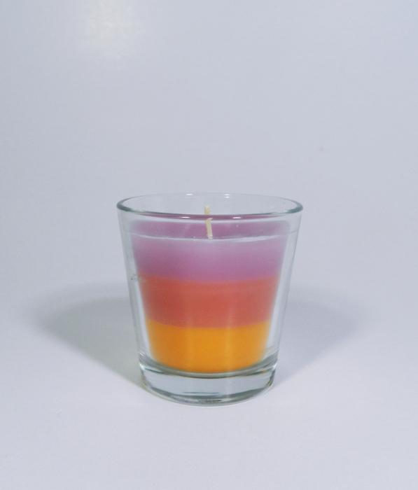 Lumanare decorativa parfumata in borcan, 6cm, multicolor 2