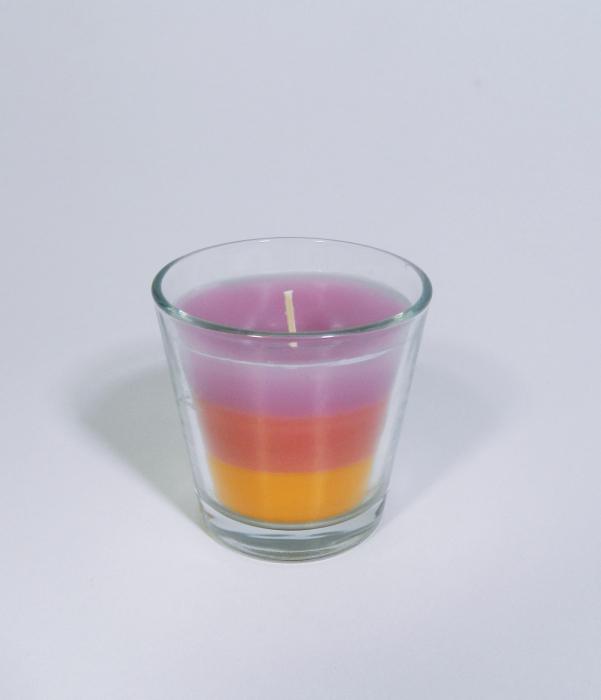 Lumanare decorativa parfumata in borcan, 6cm, multicolor 1