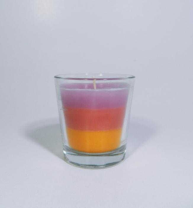 Lumanare decorativa parfumata in borcan, 6cm, multicolor 0
