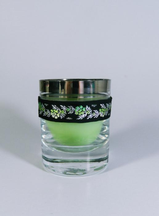 Lumanare decorativa parfumata in borcan, 8cm, verde 0