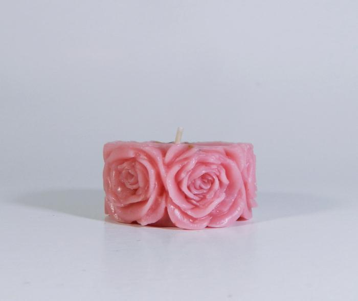 Lumanare decorativa parfumata, 5cm, Roz 0