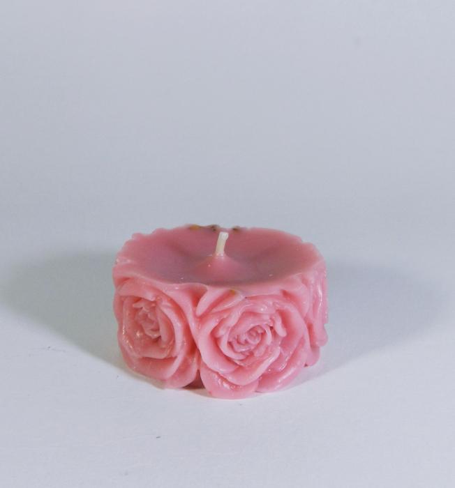 Lumanare decorativa parfumata, 5cm, Roz 1