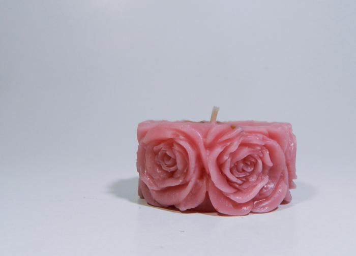 Lumanare decorativa parfumata, 5cm, Roz 2