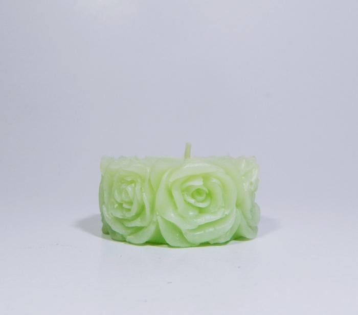 Lumanare decorativa parfumata, 5 cm, Verde 0