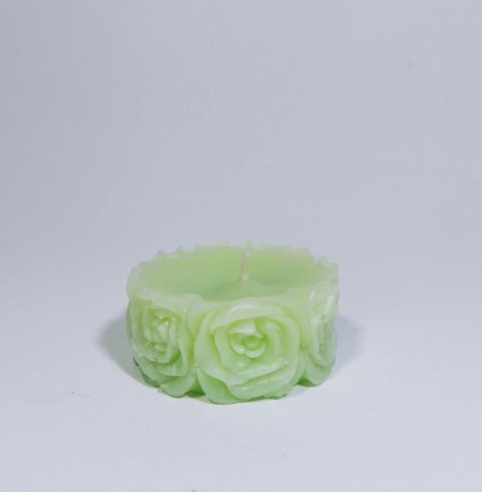 Lumanare decorativa parfumata, 5 cm, Verde 1