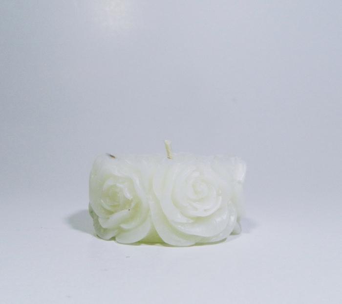 Lumanare decorativa parfumata, 5cm, Alb 0