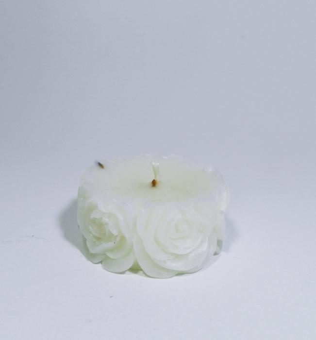 Lumanare decorativa parfumata, 5cm, Alb 2