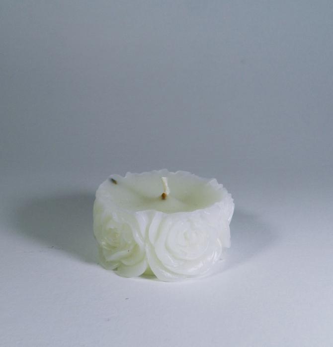 Lumanare decorativa parfumata, 5cm, Alb 1