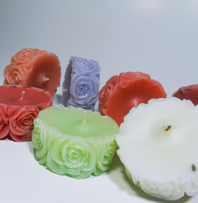 Lumanare decorativa parfumata, 5 cm, Verde 2
