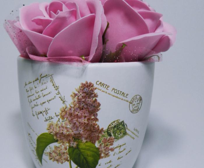 Aranjament Flori Sapun Parfumate in Ghiveci 2