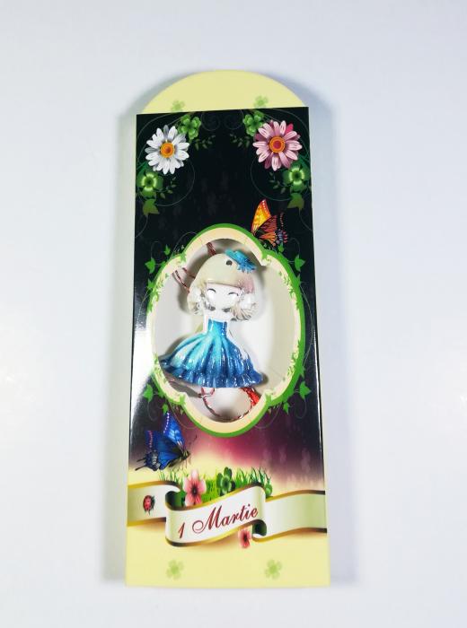 Martisor model fetita, Multicolor, 4cm 0