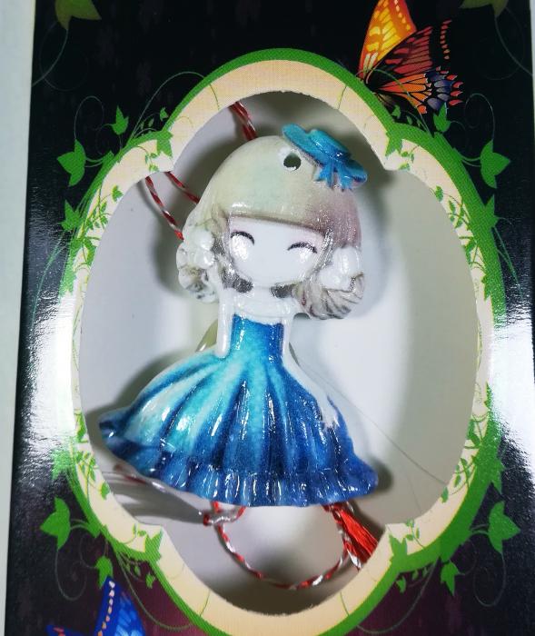Martisor model fetita, Multicolor, 4cm 1