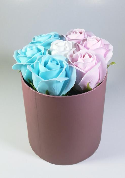 Aranjament Flori Sapun Parfumate in cutie Multicolor 0