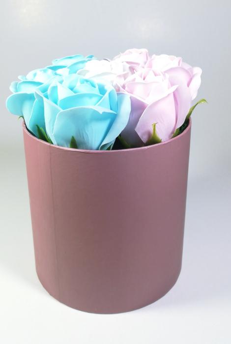 Aranjament Flori Sapun Parfumate in cutie Multicolor 2