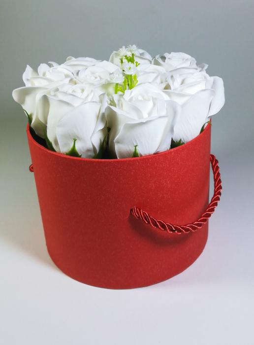 Aranjament Flori Sapun Parfumate in cutie 2