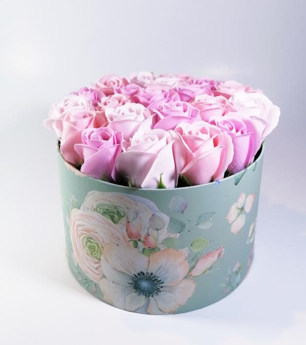 Aranjament Flori Sapun Parfumate in cutie 0