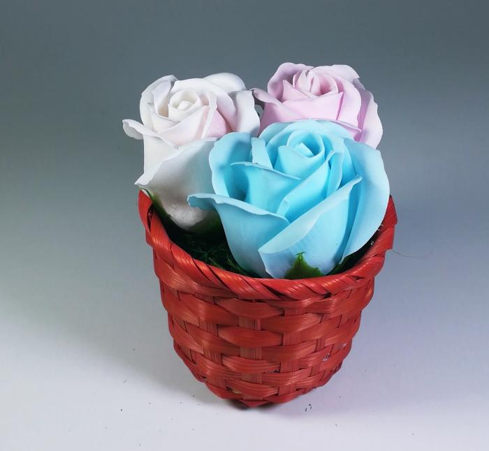 Aranjament Flori Sapun Parfumate in cosulet 1