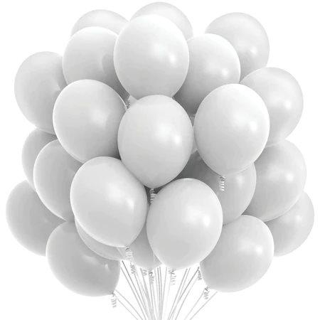 Set 100 baloane , Alb , 25 cm 0