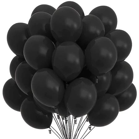 Set 100 baloane , negru, 25 cm [0]