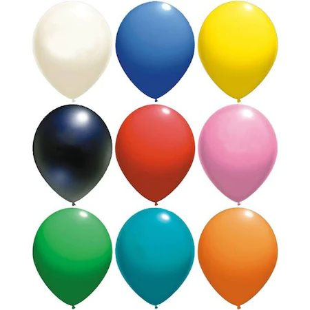 Set 100 baloane latex multicolor 23 cm [0]