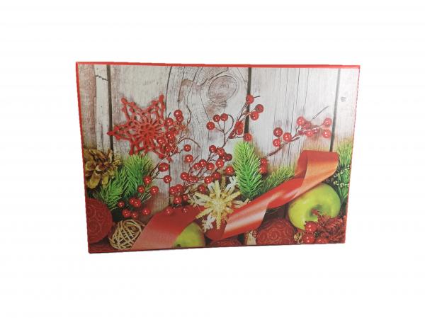 Cutii Cadouri Craciun cu model, Multicolor, 21 x 8 x 14 cm