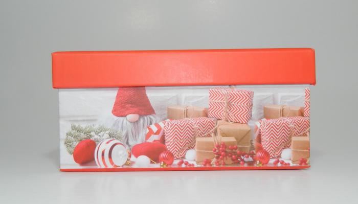 Cutie Cadouri Craciun cu model, Multicolor 16 x 7.5 x 11cm 2