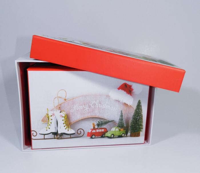 Cutie Cadouri Craciun cu model, Multicolor, 21 x 8 x 14 cm 4