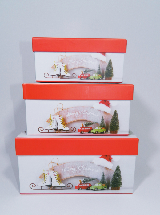 Cutie Cadouri Craciun cu model, Multicolor, 21 x 8 x 14 cm 2