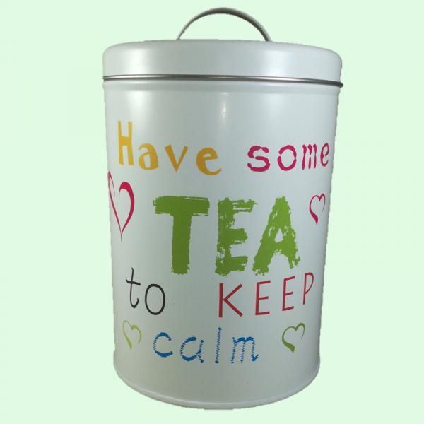 Cutie ceai, metalica, 100 gr
