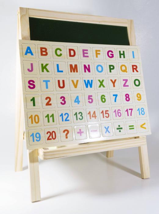 Tabla magnetica 2 in 1, litere + cifre + abac incluse 2