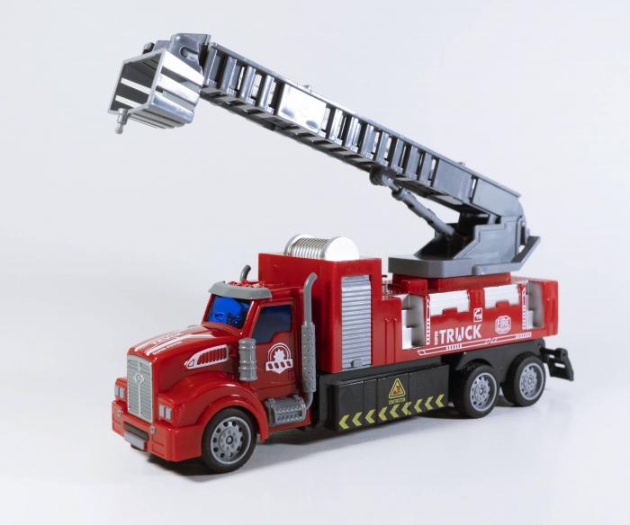 Camion Pompieri Autoscara cu Telecomanda, Lumini si Sunete 20 cm, Multicolor [0]