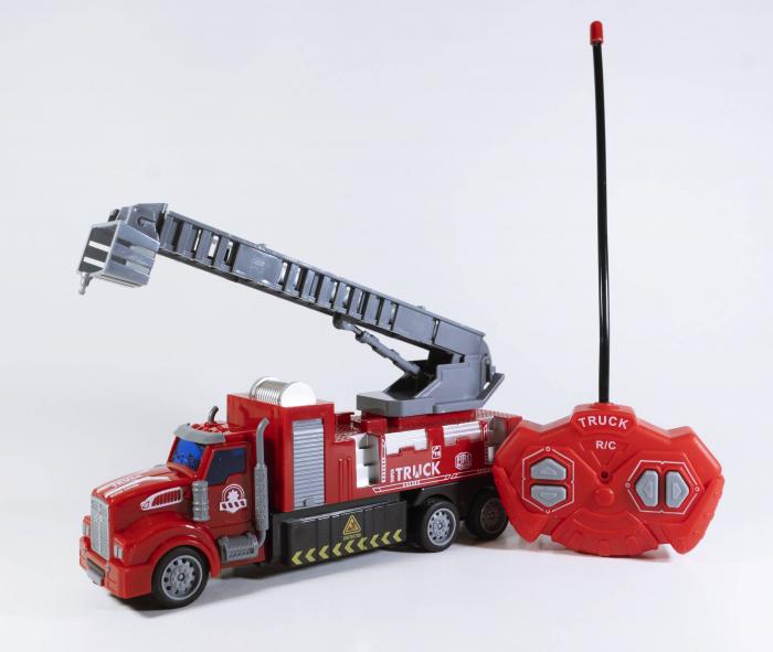 Camion Pompieri Autoscara cu Telecomanda, Lumini si Sunete 20 cm, Multicolor [1]