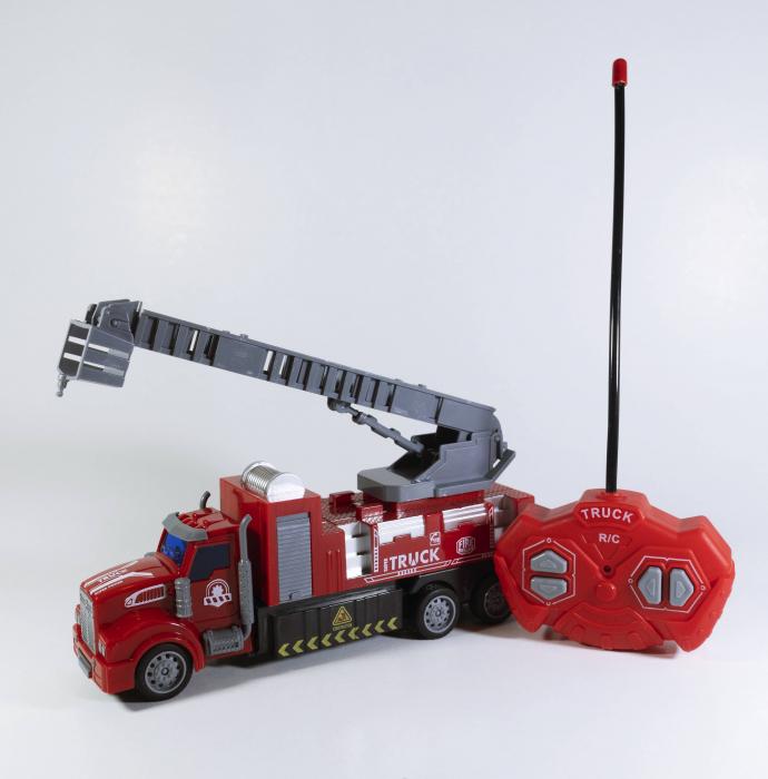 Camion Pompieri Autoscara cu Telecomanda, Lumini si Sunete 20 cm, Multicolor [3]