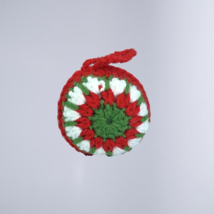 Glob Craciun, Handmade, Traditional, Crosetat, Multicolor, 7 x 7 cm 0