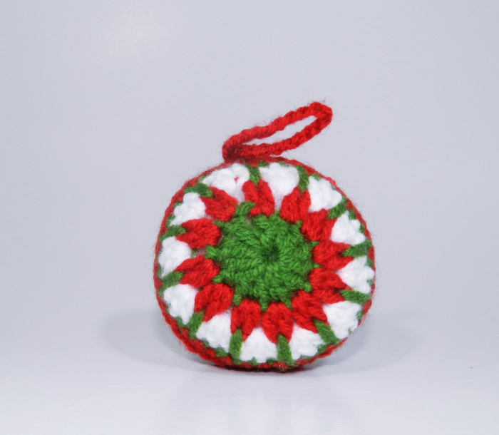 Glob Craciun, Handmade, Traditional, Crosetat, Multicolor, 7 x 7 cm 0