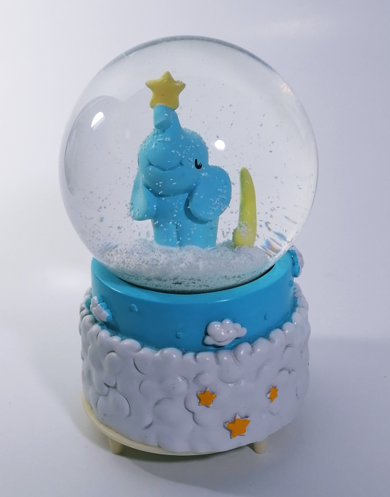 Glob muzical de zapada, model Elefant, multicolor, 14cm 0