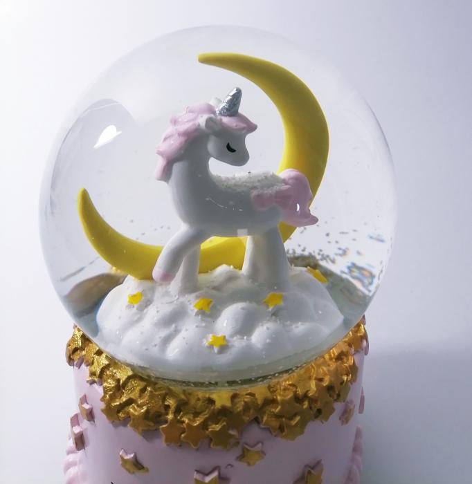 Glob muzical de zapada, model Unicorn, multicolor, 14cm 1