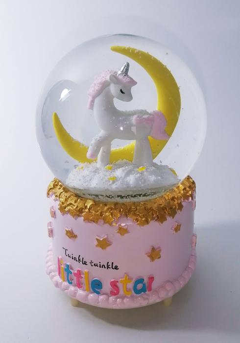 Glob muzical de zapada, model Unicorn, multicolor, 14cm 0