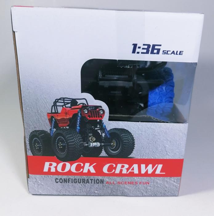 Masina ROCK CRAWL Cu Telecomanda 4WD 1:36, Police, Multicolor [3]