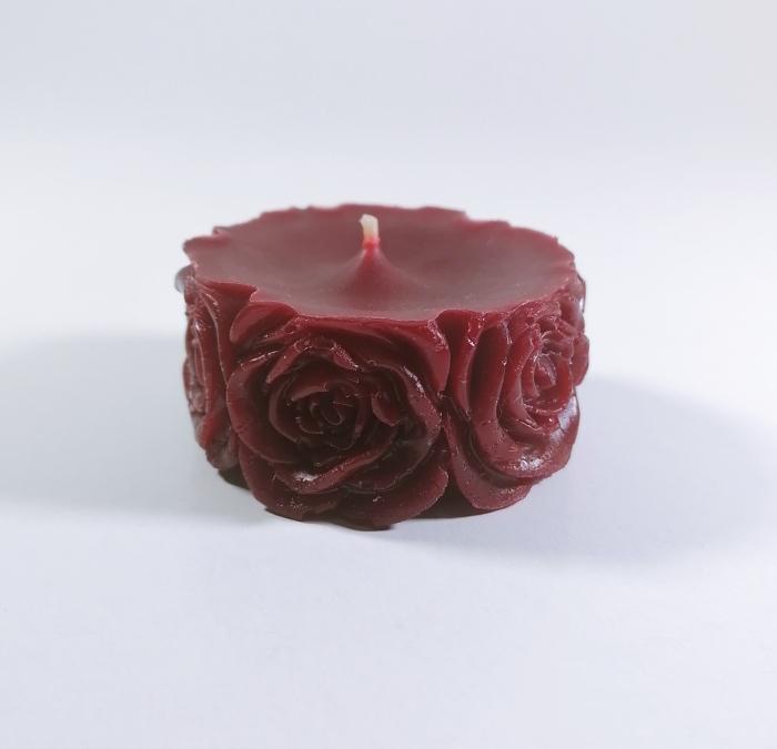 Lumanare decorativa parfumata, rosu, 5 cm [0]
