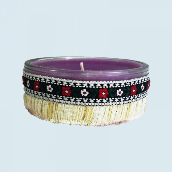 Lumanare decorativa parfumata in borcan, cu aroma de Lavanda