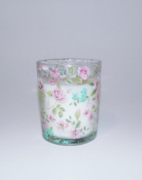 Lumanare decorativa parfumata in borcan, cu aroma de Vanilie, 8x6 cm, alb 2