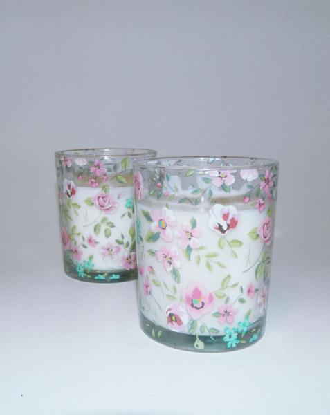 Lumanare decorativa parfumata in borcan, cu aroma de Vanilie, 8x6 cm, alb 1
