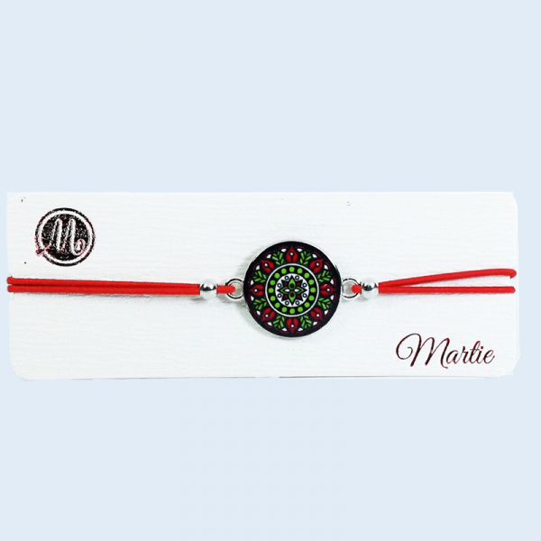 Martisor Bratara,Motive Traditionale, Snur Rosu 0