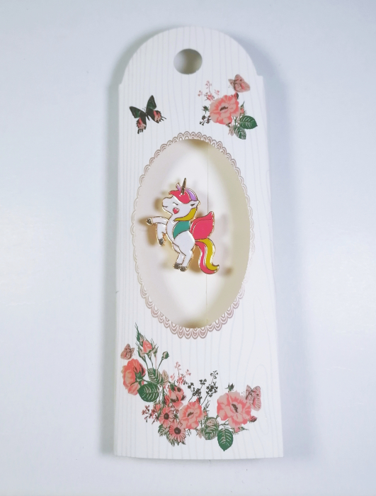 Martisor tip brosa, Model Unicorn, Multicolor, 3cm 0
