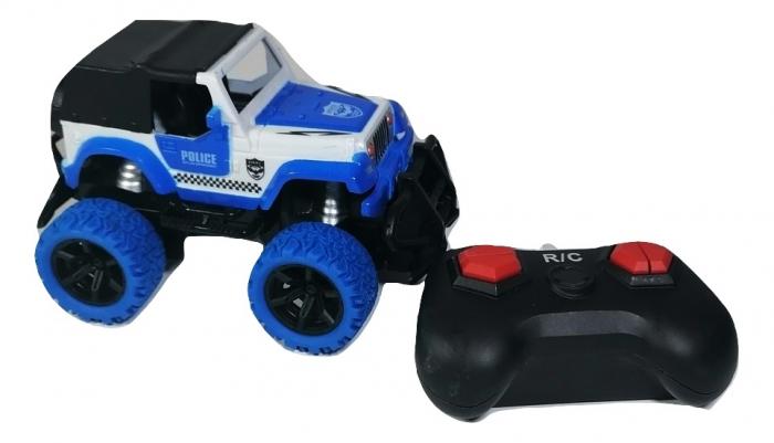Masina ROCK CRAWL Cu Telecomanda 4WD 1:36, Police, Multicolor [0]