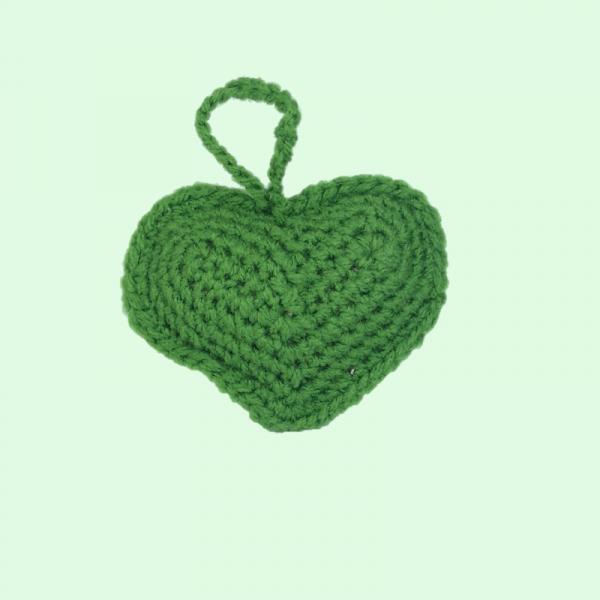 Ornament Crosetat Manual sub forma de Inima 0