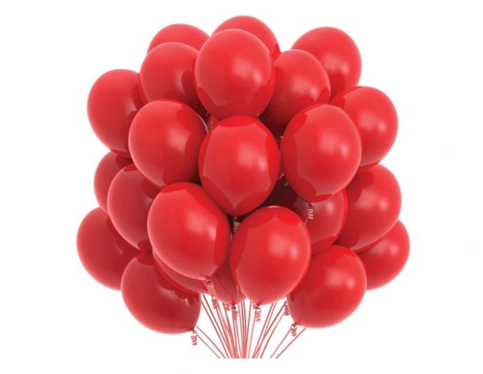 Set 100 baloane , rosu , 25 cm [0]